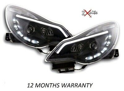 Vauxhall Corsa D 2011 On Black Led Drl Light Bar Drl Daytime Running Headlights