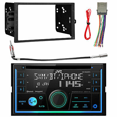XDVD256BT Double Din USB Car Radio Player Install Mount Kit Wire Harness Antenna