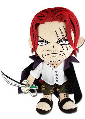 """NEW Official Sealed Great Eastern (GE-52723) One Piece 8"""" Shanks Stuffed Plush"""