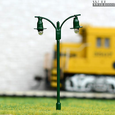 On Sale 5 x OO / HO scale Model train Lamp posts 12V street light Lamps #511