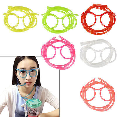 2x Drinking Straw Glasses Party Toy Boy Girl XMAS GIFT Christmas Stocking Filler
