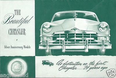 Auto Brochure - Chrysler - Silver Anniversary Models - 1949  (AB707)
