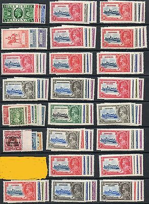 1935 Silver Jubilee Omnibus set 250 MLH mint stamps including Egypt 1p seal