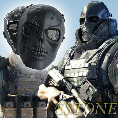 Skull Skeleton Airsoft Tactical Paintball BB Gun Full Face Protect Safety Mask