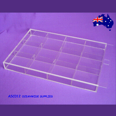 BEST SELLING Clear Acrylic Bead Display Case Box-12 Compartments | AUSSIE Seller