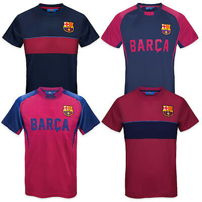 FC Barcelona Official Football Gift Mens Poly Training Kit T-Shirt