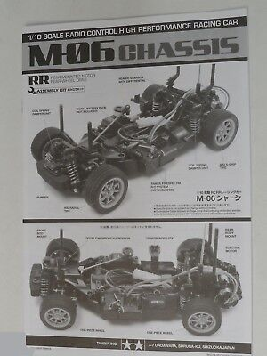 New Tamiya M06/M-06 Chassis Instructions / Build Manual 11051904