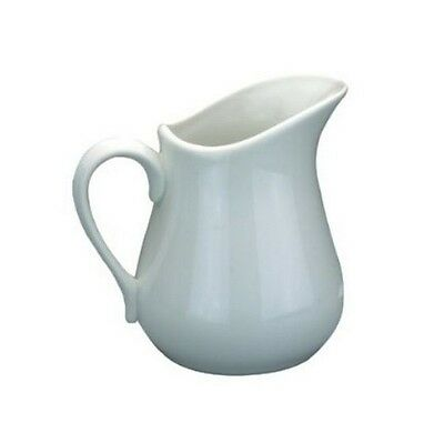 Apollo Porcelain Ceramic White Milk Cream Sauce Jug 0.081 Litre