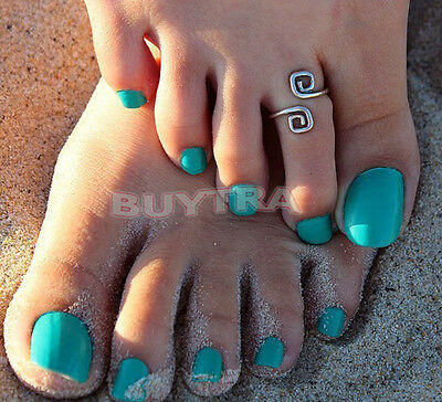Best-selling  Women Charm Simple Toe Ring Adjustable Foot Beach Jewelry