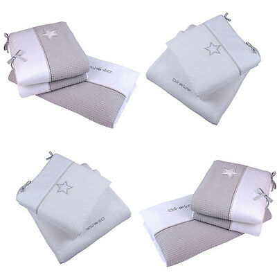 Clair de Lune Silver Lining 2 Piece Cot/Cot Bed Quilt & Bumper Bedding Set