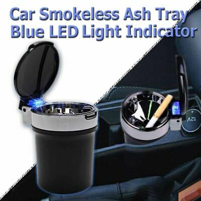 Zone Tech Car Led Cup Holder Ashtray Travel Portable Cigarette Smoke Remover