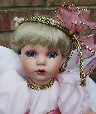 NEW 14in FAITH SEATED DONNA RUBERT & KELLY RUBERT PORCELAIN DOLL ARTWORKS #308