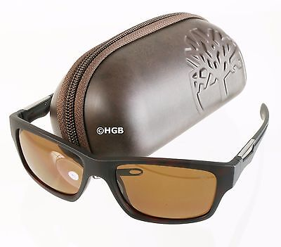 Sunglasses Timberland TB9078 Polarized Brown Lens & Frame Hard Case Mens New