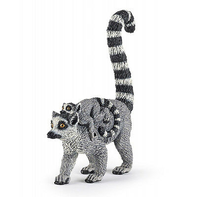 Papo 50173 Lemur with Baby Model Wild Animal Figurine Replica Toy 2015 - NIP