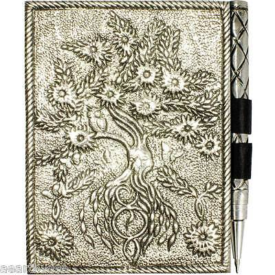 TREE OF LIFE WHITE SMALL METAL DIARY JOURNAL Wicca Witch Pagan Goth DRUID