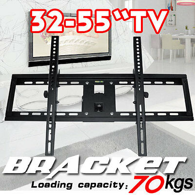 "Plasma/LCD TV Wall Mount Bracket 32""-55"" Tilt/Swivel Black"