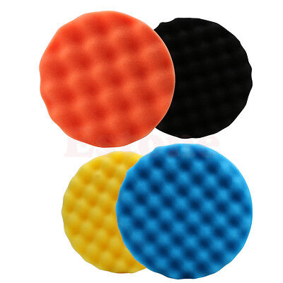 New 4Pcs 3/4/5/6/7 inch Buffing Polishing Sponge Pad Kit For Car Polisher Buffer