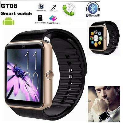 GT08 Polso Orologio Intelligente Bluetooth Smart Watch Per Android Samsung Oro