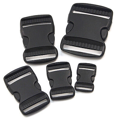 Plastic Side Release Buckles For Webbing Bags Straps Clips Sliders Fasteners