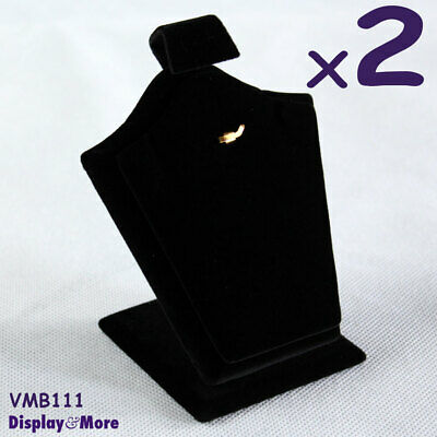 Reliable 2X Chain Pendant Set Holder Display Stand-Black Velvet | AUSSIE Seller