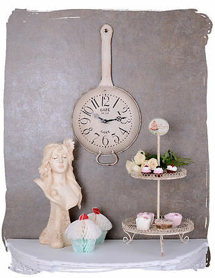 Station Clock Wall Clock Vintage White Kitchen Clock Shabby Chic