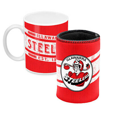 St George Illawarra Dragons CERAMIC TRAVEL COFFEE MUG Man Cave Bar Fathers Gift