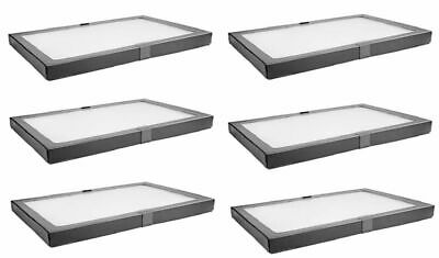 6 PACK Riker Style Display Case Box 8 x 12 x 3/4 Shadow Collection Foam Jewelry