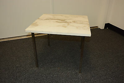 VINTAGE Marble chrome knoll eames era barcelona Occasional SIDE END lamp TABLE