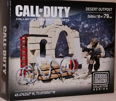 MEGA BLOKS 06846 Collector Serie Call of Duty Wüsten Außenposten NEU / OVP