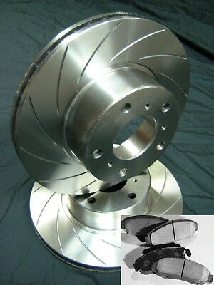 FRONT SLOTTED PAIR with PADS Commodore VT VU VX VY VZ WH WK WL Disc Brake Rotors