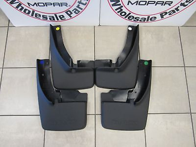 DODGE RAM 1500 2500 3500 Splash Guard Set W/ Flares Front And Rear NEW OEM MOPAR