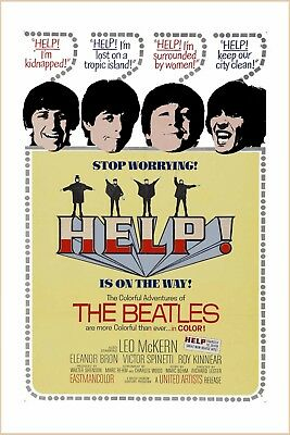 1960's The Beatles * Help! * USA Poster Promotional  Window Card 13x19