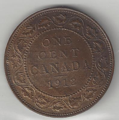 Canada,  1912,  Large One Cent,  Km#21,  Choice  Uncirculated