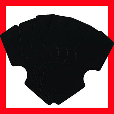 200 Plastic Necklace Jewellery Folding Card-Blank Black-5x12.5cm | AUSSIE Seller