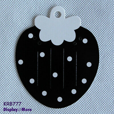 Reliable 200 Hair Clip Brooch Jewellery Card-Black Strawberry | AUSSIE Seller