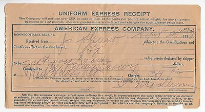 [57287] 1918 American Express Company Uniform Express Receipt