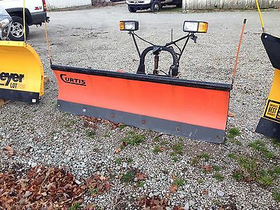 """Curtis Sno-Pro 3000 Snow Plow 6'6"""" Poly Plow - Fits Several Smaller Trucks"""