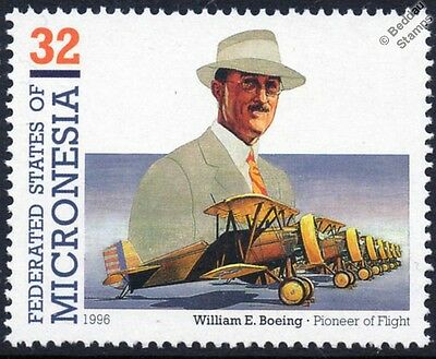 William E. Boeing P-12 F4B USAAC Fighter Aircraft Stamp (1995 Micronesia)