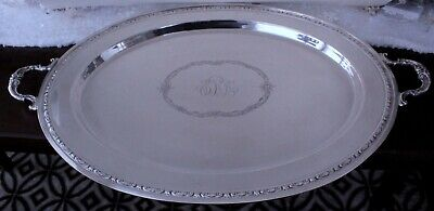"""Towle Traditional Sterling Silver Waiter Platter Massive Tray 30 1/4""""l"""