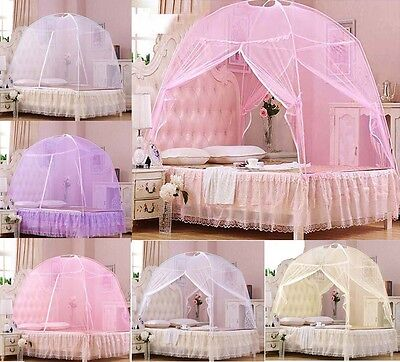 Height QC Bedding Canopy Netting Mosquito Net Tent Single Double King All Size