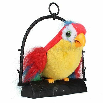 Novelty Talking Parrot Imitates And Repeats What You Say Kids Gift Funny Toy