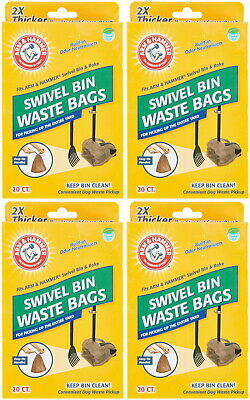 Arm & Hammer Swivel Bin Waste Bags 80ct (4 x 20ct)