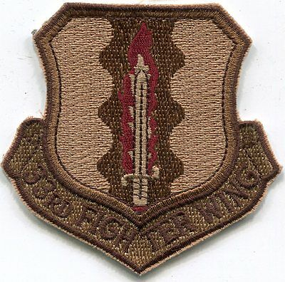 US Air Force 33rd Fighter Wing Military Patch