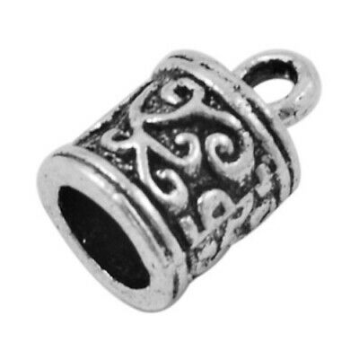 Pack Of 20 x Antique Silver Plated Alloy 6mm Kumihimo Tibetan End Caps  HA03292
