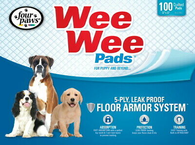 Four Paws Wee Wee Pads, 22x23 Inch, 100 Count