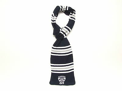 Geelong Cats AFL Striped Cable Knit Loop Scarf