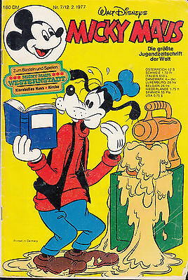 Micky Maus 1977 Nr. 7 ohne Beilage