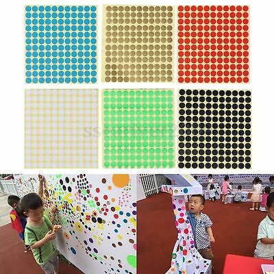 13mm Round Circle Coloured Code Self Adhesive Dot Stickers Sticky Spot Labels