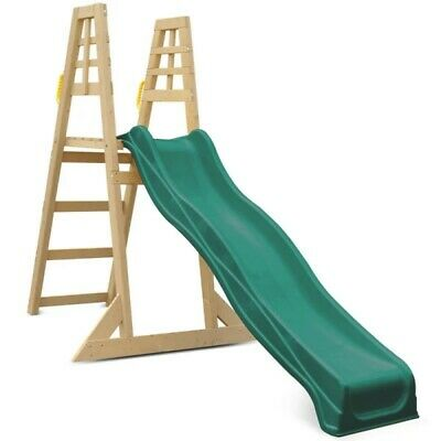Lifespan Kids 2.2M Climb And Slide Outdoor Kids Backyard Equipment Green Slide