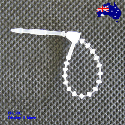 1000 Ajustable Beaded Loop Barb Fastener-Clear-Electrical Cable Tie | OZ Seller